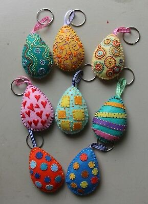 "PaTchyZ Original Felt Creations Random Key Chain Easter Egg 1.5""x2.5"""
