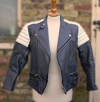 Vintage leather woman's motorcycle jacket