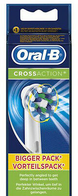 Braun Oral-B CROSS ACTION Electric Toothbrush Replacement Brush Heads 3 Heads.