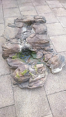 Fibreglass Garden Pond Waterfall Slate Rock Effect