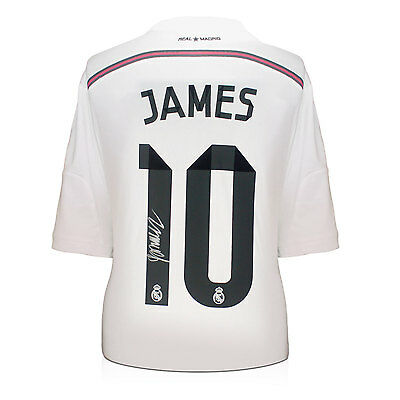James Rodriguez Signed Real Madrid Football Shirt Autographed Soccer Memorabilia