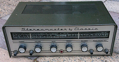 Vintage Stereo Master by Classic Valve Stereo Receiver/Amplifier - Rare