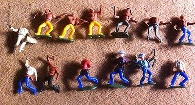 Vintage 70s 80s Timpo cowboy And Indian Figures