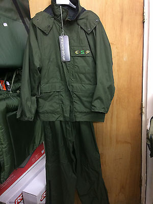 ESP green jacket and trousers size xlarge