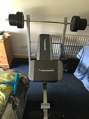 maximuscle Weight Bench With 25kg Weights