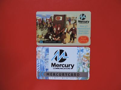 2 Collectable  Mercury Uk Phone Cards Used.  Lot 1