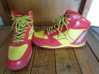 YUMS  Red Yellow High Top Shoes  Men's size 13
