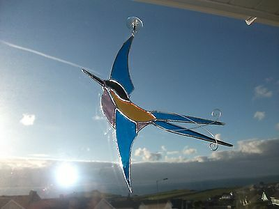 HANDMADE Stained glass  swallow Suncatcher