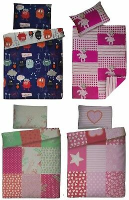 Renforce Baby Bettwäsche Set 100x135cm + 40x60cm 100% Baumwolle