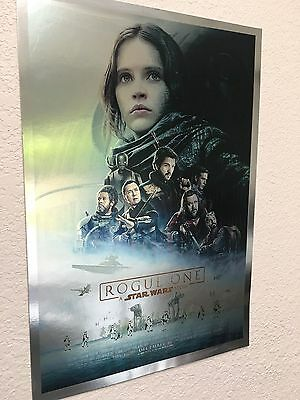 "Star Wars Rogue One  Chrome  Foil Art Print Jyn Erso 12"" x 18"" Free Shipping"