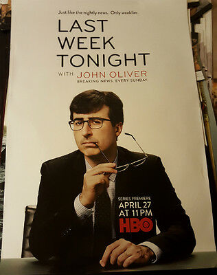 Last Week Tonight With John Oliver - HBO Comedy Series LARGE Promotional Poster