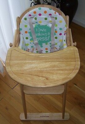 Mothercare Valencia Folding Antique Pine Wooden Baby Highchair