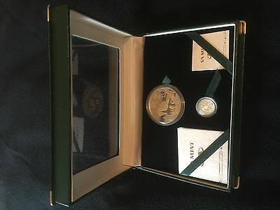 SOUTH AFRICA 1997 2 Rand Combo Set/Knysna Seahorse Silver Proof w/Cert&case