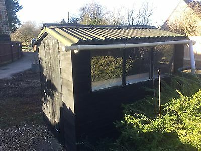 Wooden Garden Shed Allotment Storage Outbuilding Onduline Roof 8 X 6