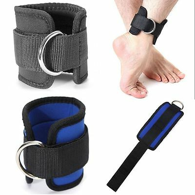 Sports New D-ring Multi Cable Thigh Leg Pulley Gym Weight Lifting Ankle Strap
