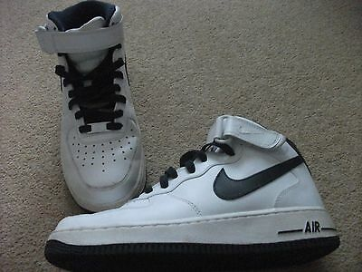 Nike White High Top Trainers Uk Size 7.5