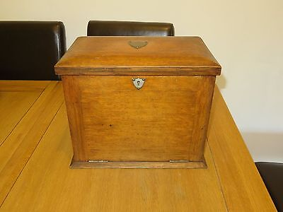 Antique Wooden Letter Writing Box