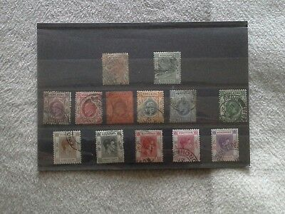 Hong Kong - Selection of Used Stamps Issued Between 1880 and 1938