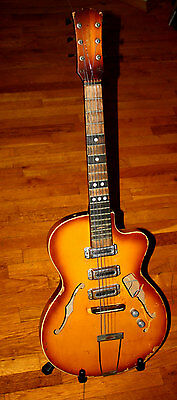 Vintage Soviet Union Archtop Guitar Wood Made in USSR Lunacharsky Factory