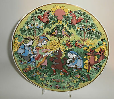 ~ Bjorn Wiinblad Rosenthal fairy tale rare plate Puss in Boots wallplate MIB