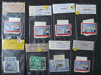 Selection of stamps from Ceylon