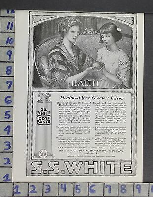 1919 White Dental Philadelphia Toothpaste Medical Benda Medical Vintage Ad [Sku]
