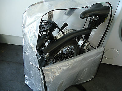 """Brompton Bicycle Bike Folding Carrier Bag Carry Cover Travel Airplane 16"""" Wheels"""