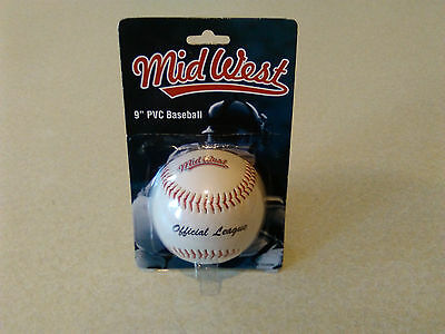 Mid West 9 inch Official League Size and Weight Basball Ball