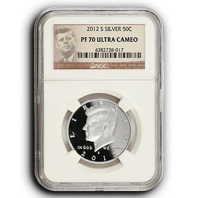 2012 S Proof Silver Kennedy Half Dollar NGC PF70 Ultra Cameo Coin