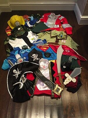 Big Bundle Of Fancy Dress Outfits, Approx Age 4-8