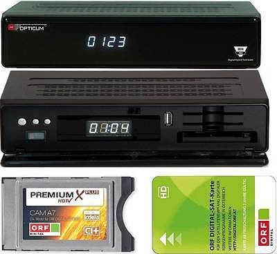 Opticum Odin Twin E2 Linux Twin Sat Receiver + CI+ ORF Karte HD 2x Sat Tuner