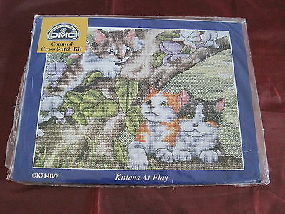 DMC creative world counted cross stitch Kittens at play