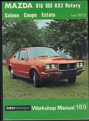 Mazda 818,808,rx3 Rotary,saloon,coupe,estate Owners Workshop Manual,1972 On