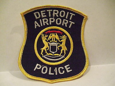 police patch  DETROIT AIRPORT POLICE MICHIGAN