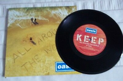 """Oasis All Around The World / The Fame 7"""" Vinyl 45 (Cre 282)"""