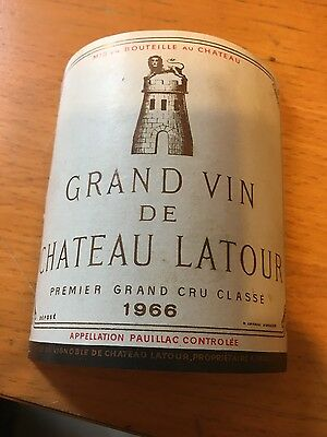 1966 Grand Vin de Chateau Latour wine label