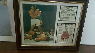 Cassius Clay Sonny Liston Framed Display Piece Heavyweight Boxing