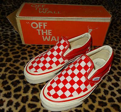 VANS #98 Low Top Skateboard Shoes - Vintage '70s Made in the USA Trainers 3 RWCQ
