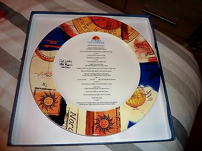 Fabulous Boxed Gala Dinner Signed Glazed Plate From P & O Cruise Ship Aurora