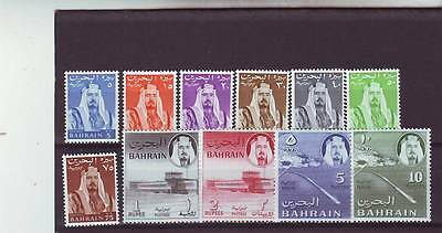 a121 - BAHRAIN - SG128-138 MNH 1964 DEFINITIVES 5n.p - 10r CV £53.00