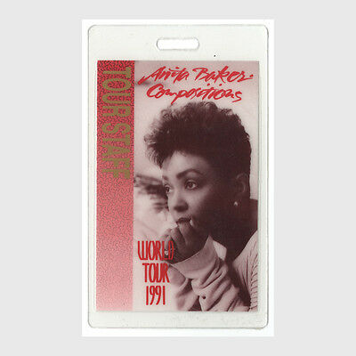 Anita Baker authentic 1991 concert tour Laminated Backstage Pass