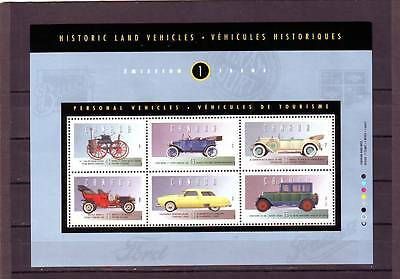 a121 - CANADA - SGMS1563 MNH 1993 HISTORIC AUTOMOBILES - 1st ISSUE