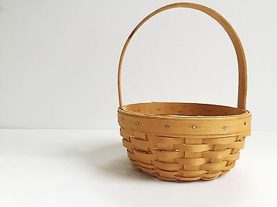 Longaberger Small 2001 Edition Easter Basket Classic Perfect Condition