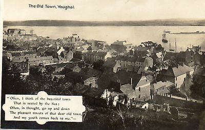 Youghal County Cork Ireland The old Town The Milton Post Card Real Photograph AK