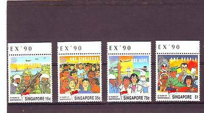 a121 - SINGAPORE - SG637-640 MNH 1990 25th ANNIV INDEPENDENCE