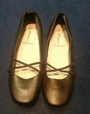 Size 8 BLACK Platino leather sock shoes