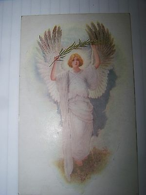 Antique English postcard The Queen's peace card Angel  1922