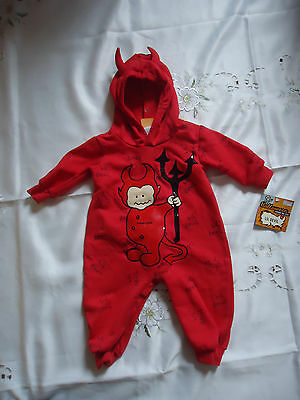 NEW HALLOWEEN FRIDAY the 31st Red LIL DEVIL with Sound COSTUME Size 9 MONTH old