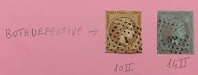 Greece 1861 Lot Of 2 Used Look At The Picture With Defect Thin