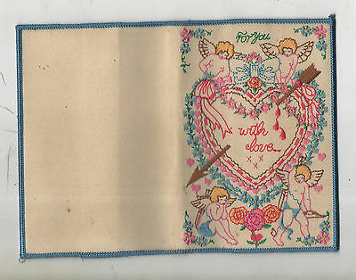 Vintage Embroidered Book Cover